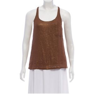 Joie Sleeveless Silk Sequin Top/Tunic